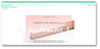 Humanity in Fashion Award Webseite