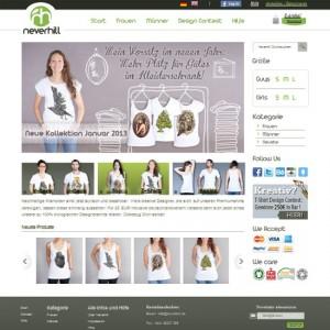 Neverhill Webseite