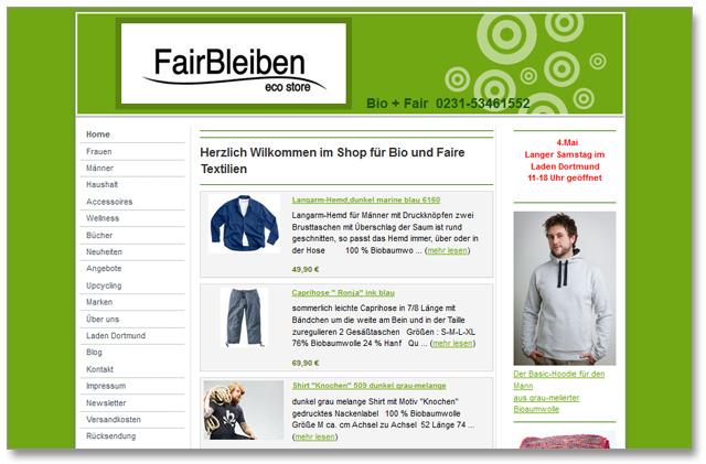 FairBleiben Online-Shop