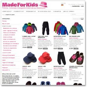 MadeForKids Online-Shop