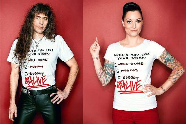 bleed PETA T-Shirt: Axel Ritt & Lina van de Mars