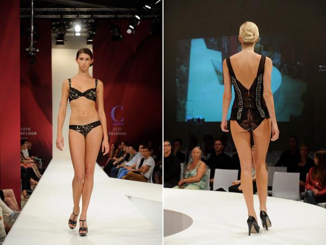 Charini Dessous-Modenschau auf dem lavera Showfloor (Berlin, Juli 2013)