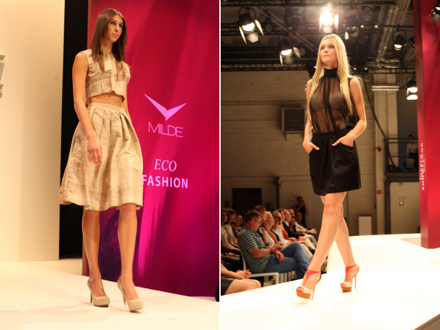 Milde Fashion-Show auf dem lavera Showfloor im Juli 2013 in Berlin