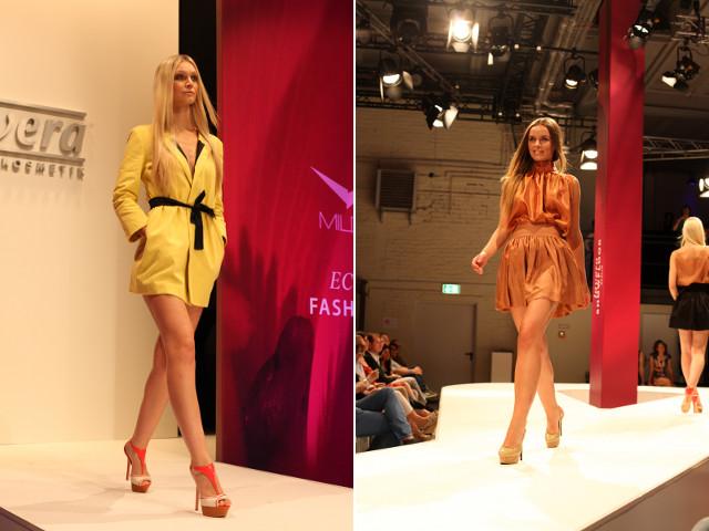 Milde Fashion-Show auf dem lavera Showfloor im Juli 2013 in Berlin