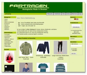fairtragen Online-Shop