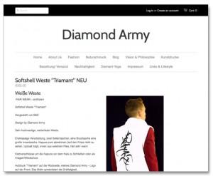 Diamond Army - Webseite und Online-Shop