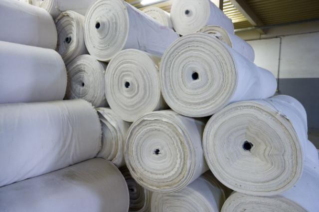 Stoffrollen aus Baumwolle