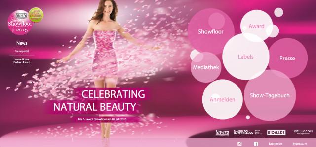 lavera Showfloor Webseite